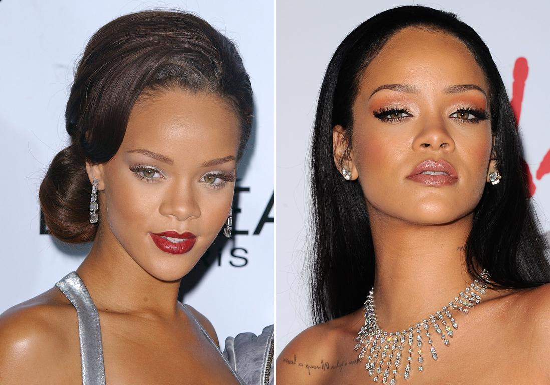 Les sourcils de rihanna avant apr s sourcils de stars les avant apr s les plus bluffants elle - Rihanna avant apres ...