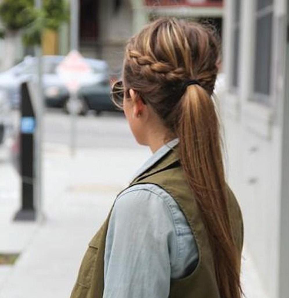 Bevorzugt La queue de cheval tressée - 10 coiffures rapides et pratiques  UB68