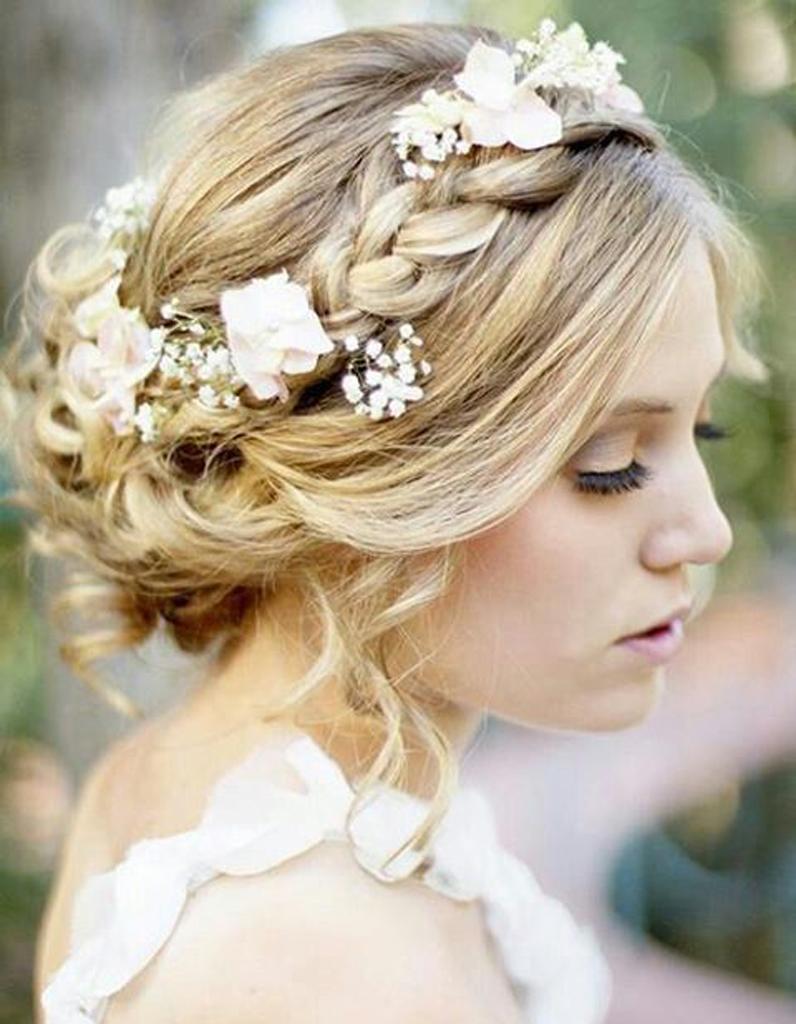 Chignon de mari e avec headband je veux un joli chignon de mari e elle - Chignon avec headband ...