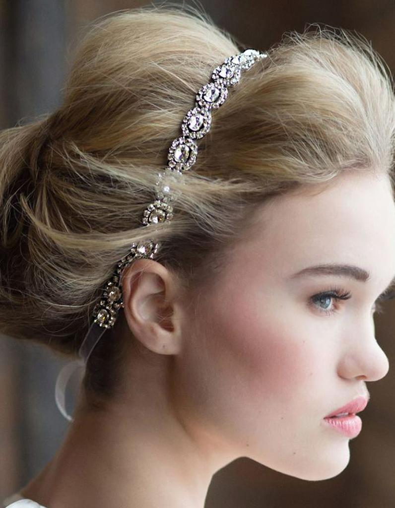 Chignon mariée headband