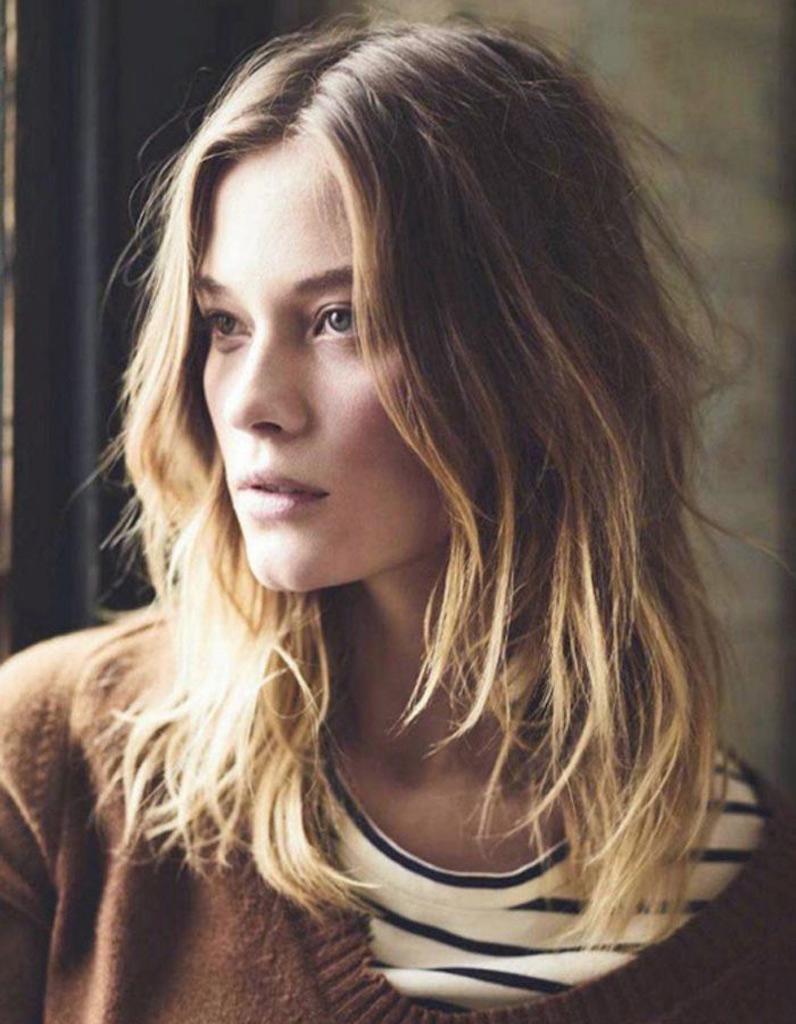 Mode cheveux long femme