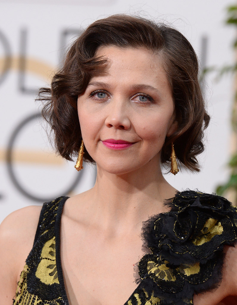 le carr flou de maggie gyllenhaal golden globes 2016 qui tait la mieux coiff e sur le. Black Bedroom Furniture Sets. Home Design Ideas
