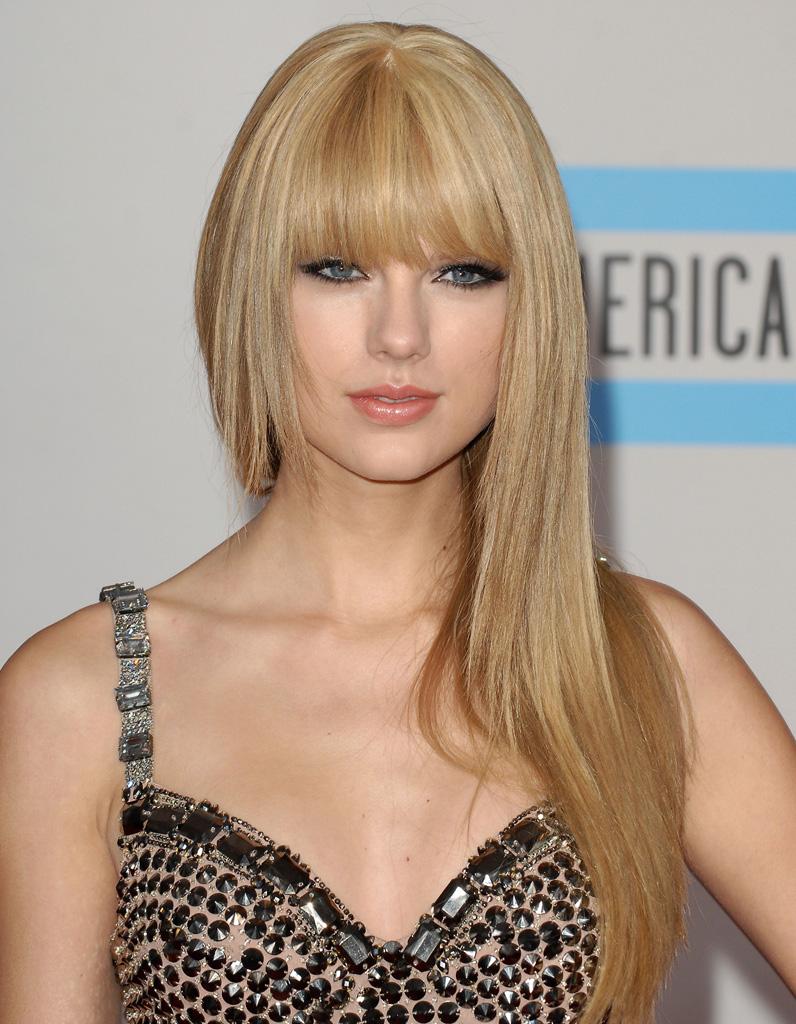 Frange cheveux long blond