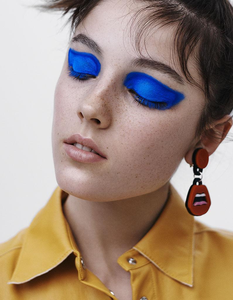 la banane bleu klein maquillage annoncez la couleur elle. Black Bedroom Furniture Sets. Home Design Ideas