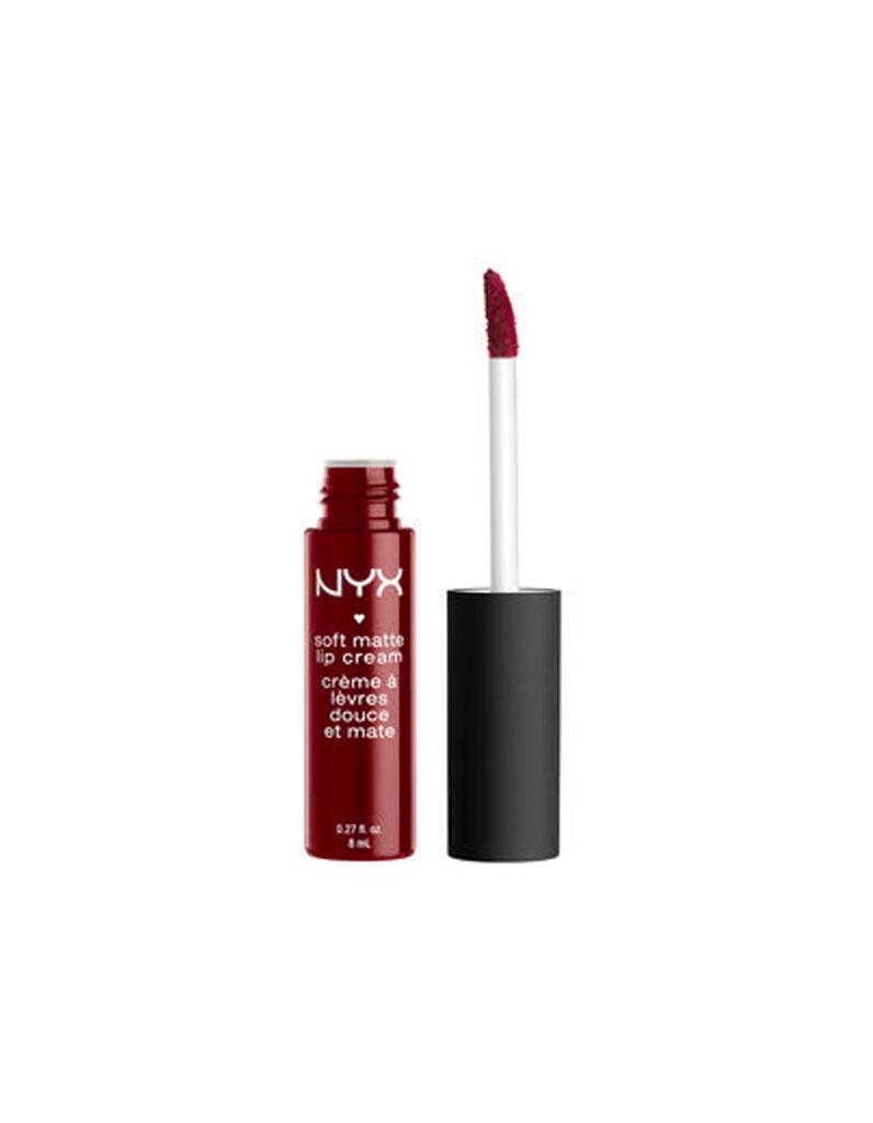 soft matte lip cream madrid nyx 6 90 23 rouges l vres bordeaux pour une bouche l gante. Black Bedroom Furniture Sets. Home Design Ideas