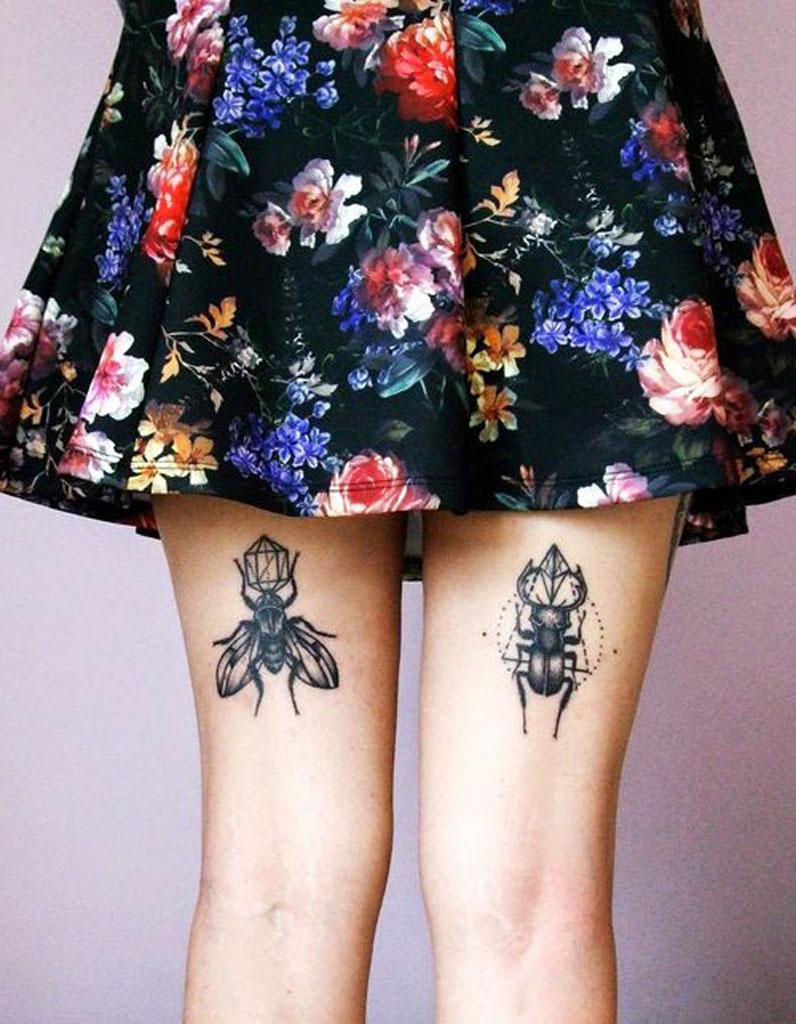 tatouage cuisse arri re 15 tatouages sur la cuisse qui nous font de belles jambes elle. Black Bedroom Furniture Sets. Home Design Ideas