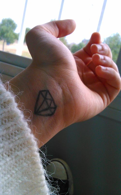 Tatouage poignet diamant tatouage 40 jolies id es pour - Tatouage diamant poignet ...