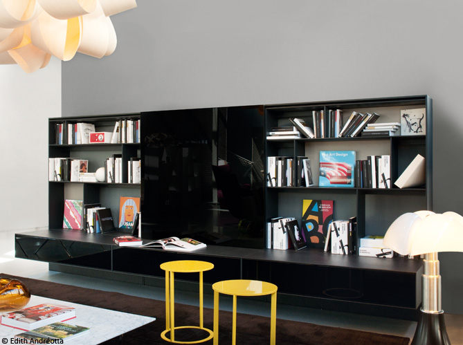 biblioth ques design nos 11 solutions pr f r es elle d coration. Black Bedroom Furniture Sets. Home Design Ideas