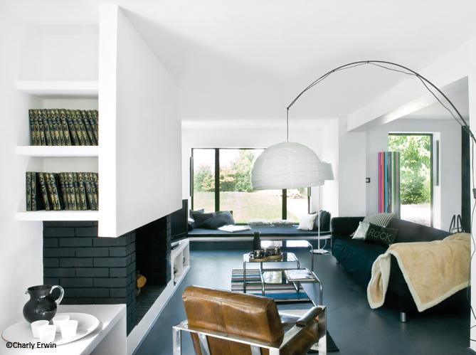 D coration 100 noir et blanc elle d coration - Deco salon noir blanc ...