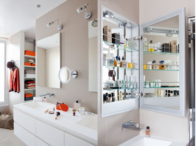Des rangements malins dans la salle de bains elle d coration for Petit rangement salle de bain