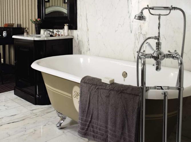 Le charme du r tro dans la salle de bains elle d coration for Salle de bains retro