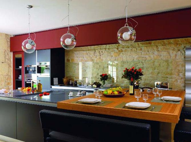 Les matériaux dans la cuisine  Elle Décoration