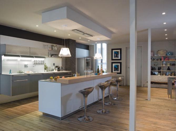 Les nouvelles cuisines vivre elle d coration for Cuisine ouverte luminaire