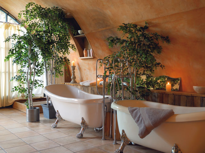 Les salles de bains voient grand elle d coration - Plante verte pour salle de bain ...