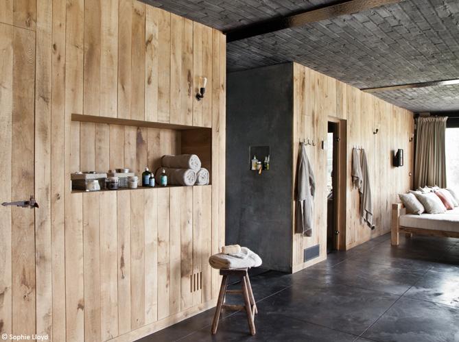 Mur En Lambris Bois Brut : Tendance : le bois habille nos murs – Elle D?coration