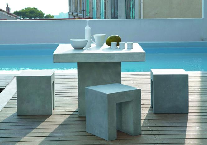 50 meubles de jardin shopper elle d coration - Maison du monde table beton ...