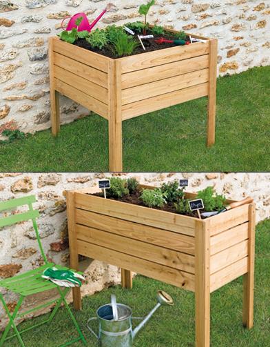 Jardini res pour potager urbain elle d coration for Jardiniere double pour balcon