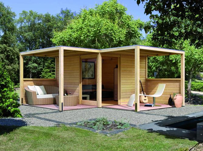 24 abris pour votre jardin abris de jardin elle d coration for Chalet de jardin de luxe