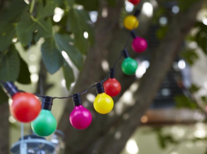 D corer ses arbres c est possible elle d coration - Guirlande guinguette ikea ...
