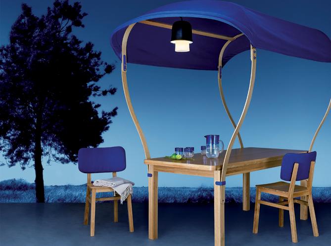 Eclairage table de jardin elle d coration for Electricite exterieur maison