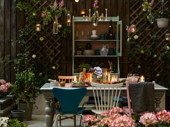 D co estivale 21 jardins pour vous inspirer elle for Deco table exterieur
