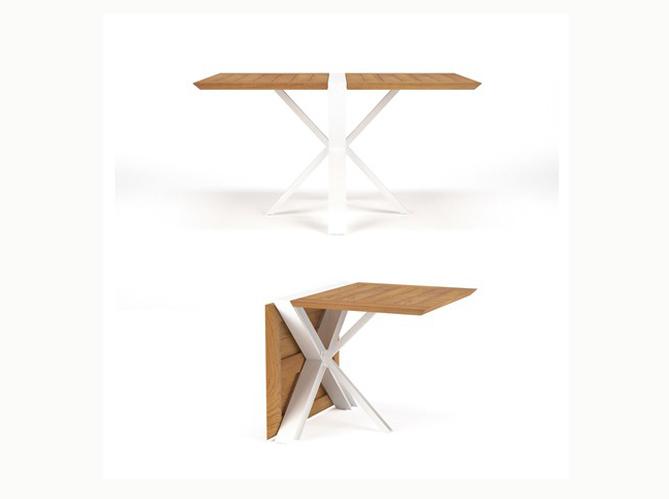 Gain de place les meubles de jardin pliables elle - Table pliante gain de place ...