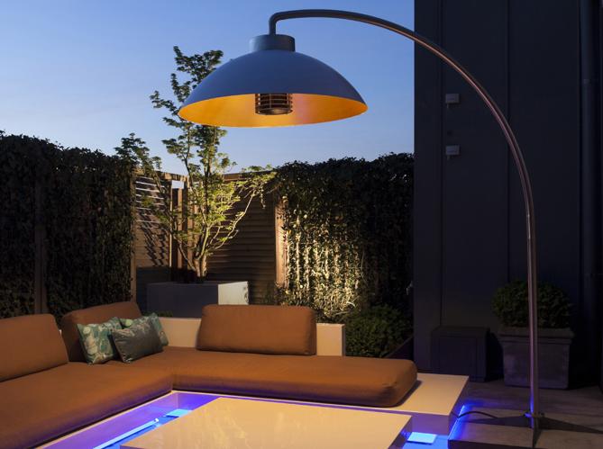 L 39 objet d co du jour un lampadaire chauffant elle d coration - Lampadaire chauffant terrasse ...