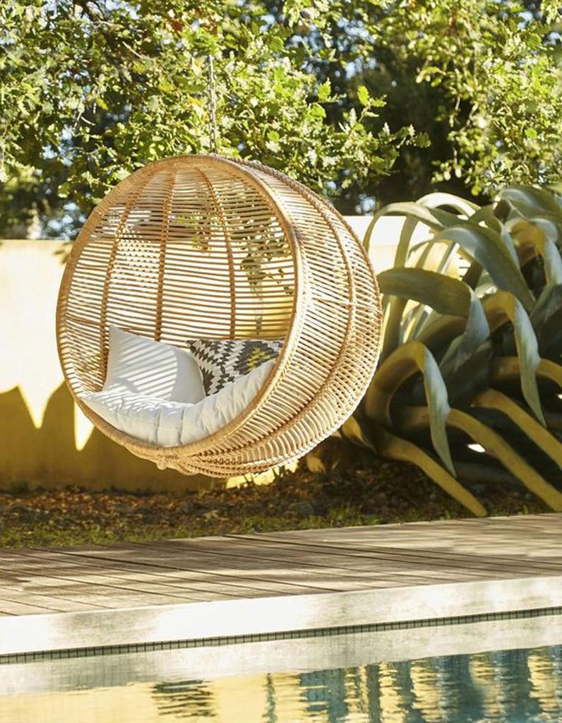 Fauteuil suspendu l 39 assise incontournable du moment elle d coration - Maison du monde fauteuil suspendu ...