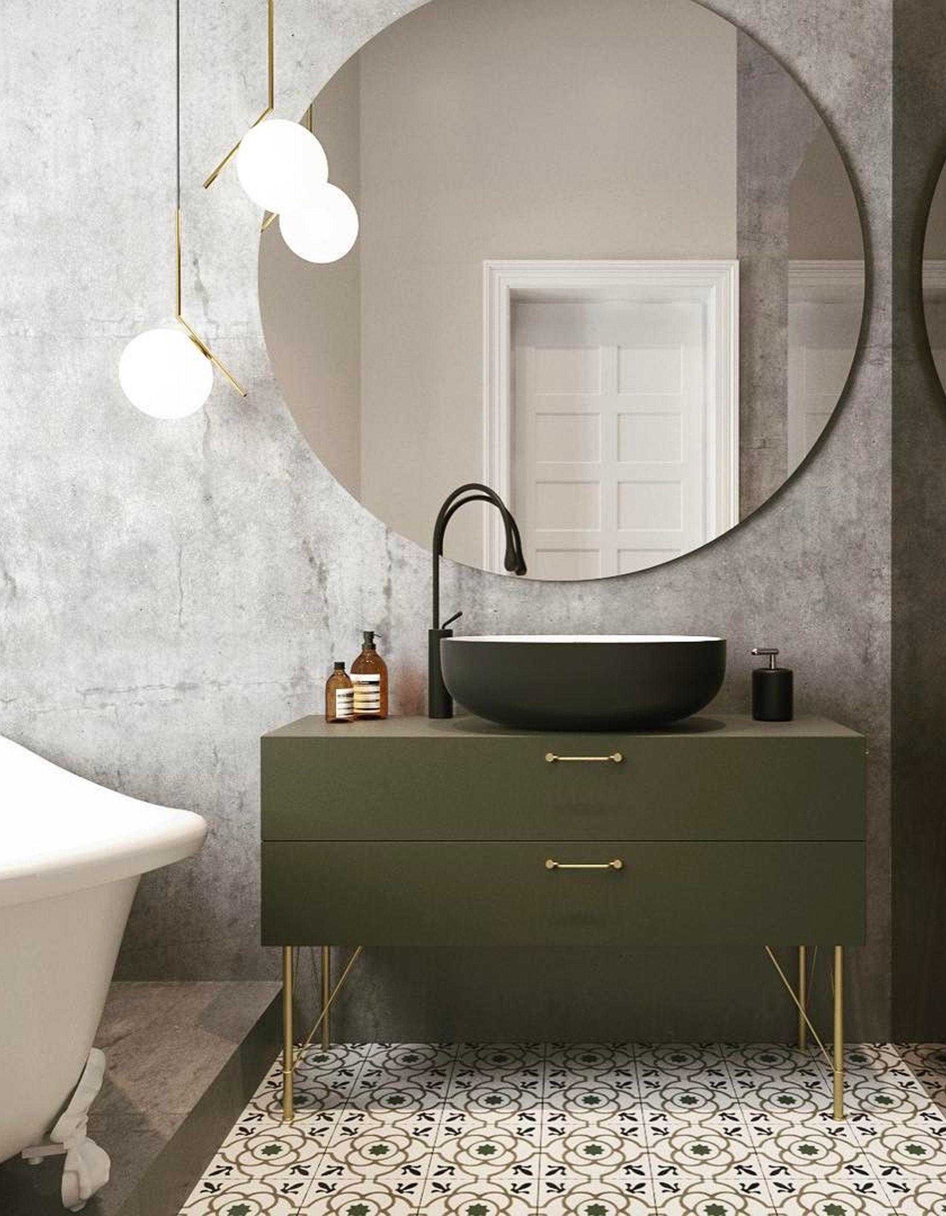 le miroir rond cet indispensable d co nos int rieurs. Black Bedroom Furniture Sets. Home Design Ideas