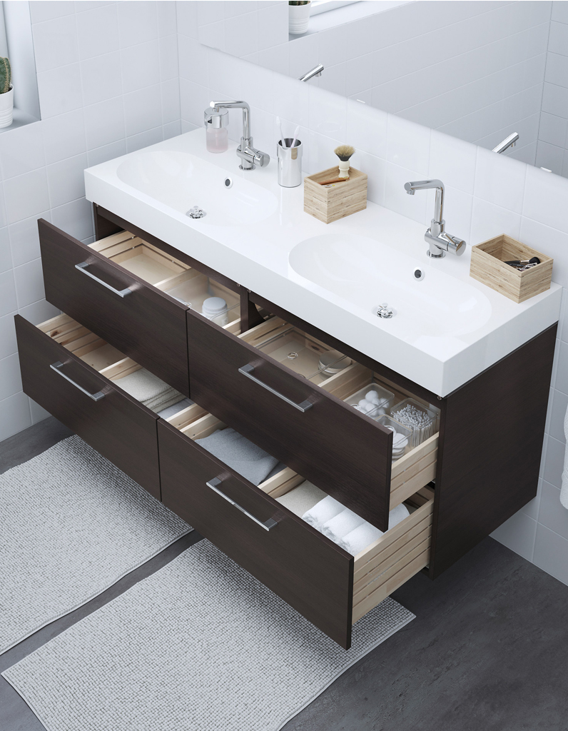 ikea double vasque best meuble salle de bain ikea noir. Black Bedroom Furniture Sets. Home Design Ideas