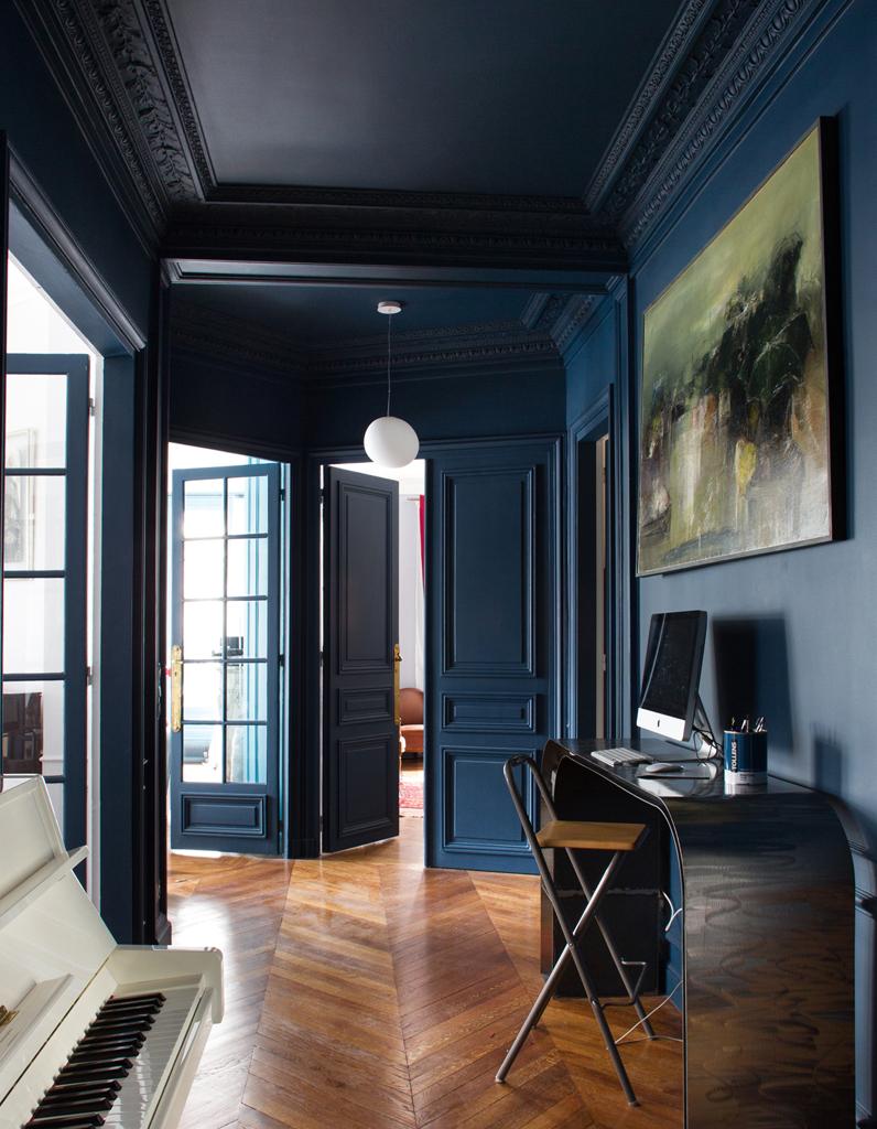 interieur maison bleu. Black Bedroom Furniture Sets. Home Design Ideas