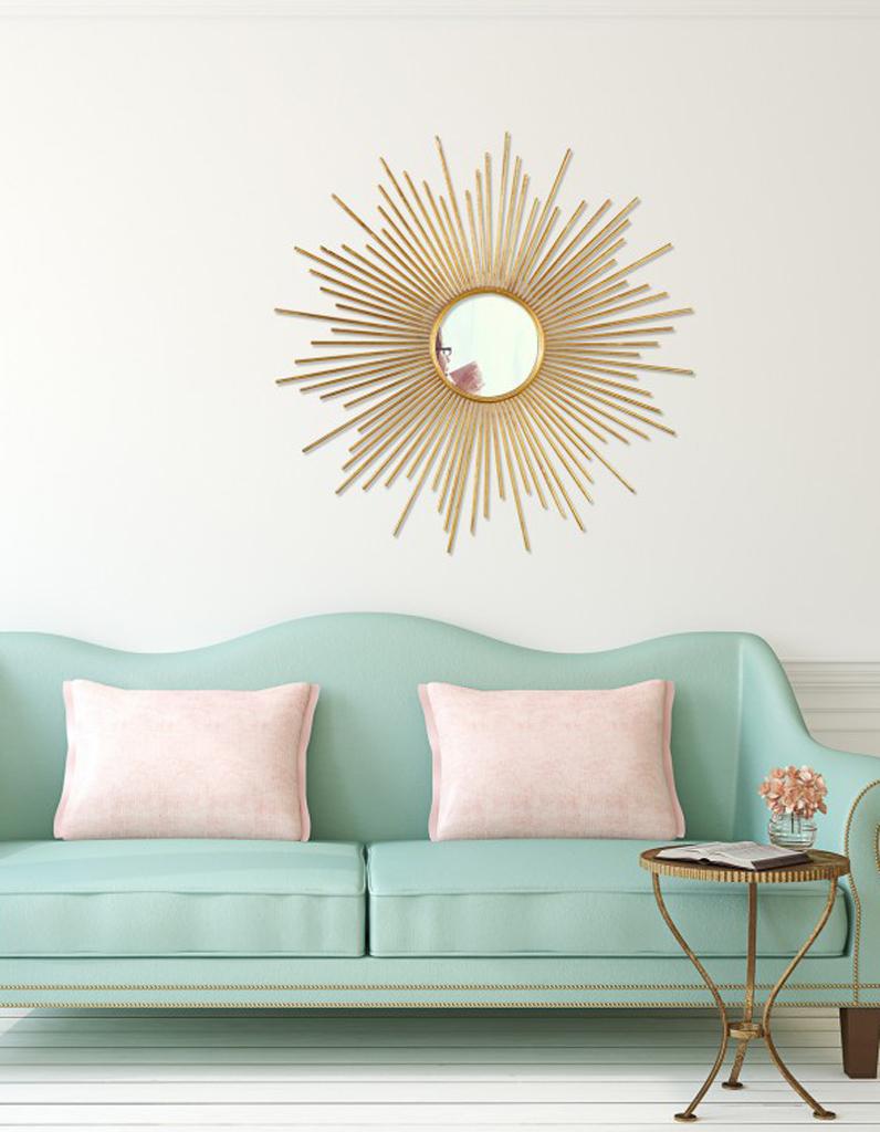 Le miroir soleil plus tendance que jamais elle d coration for Decoration de miroir