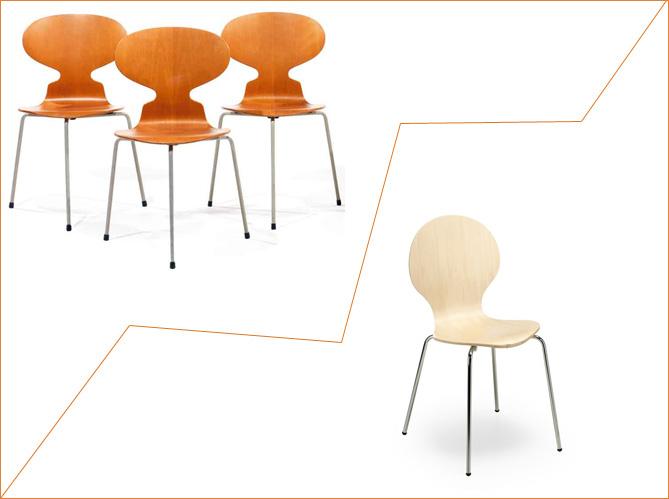 1 objet 2 budgets la chaise fourmi versus la chaise de kave home elle d coration. Black Bedroom Furniture Sets. Home Design Ideas