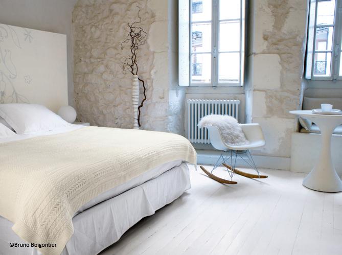 D couvrez les 100 plus belles photos de l 39 ann e elle d coration - Deco chambre blanche ...