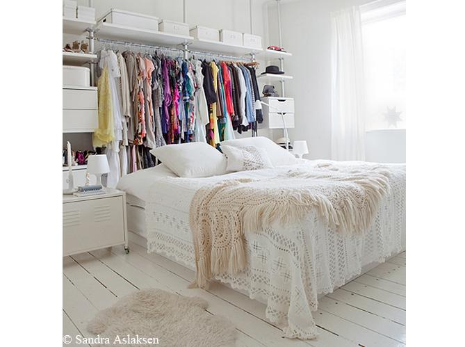 Grande tendance d co le blanc du sol au plafond elle d coration - Decoration chambre blanche ...