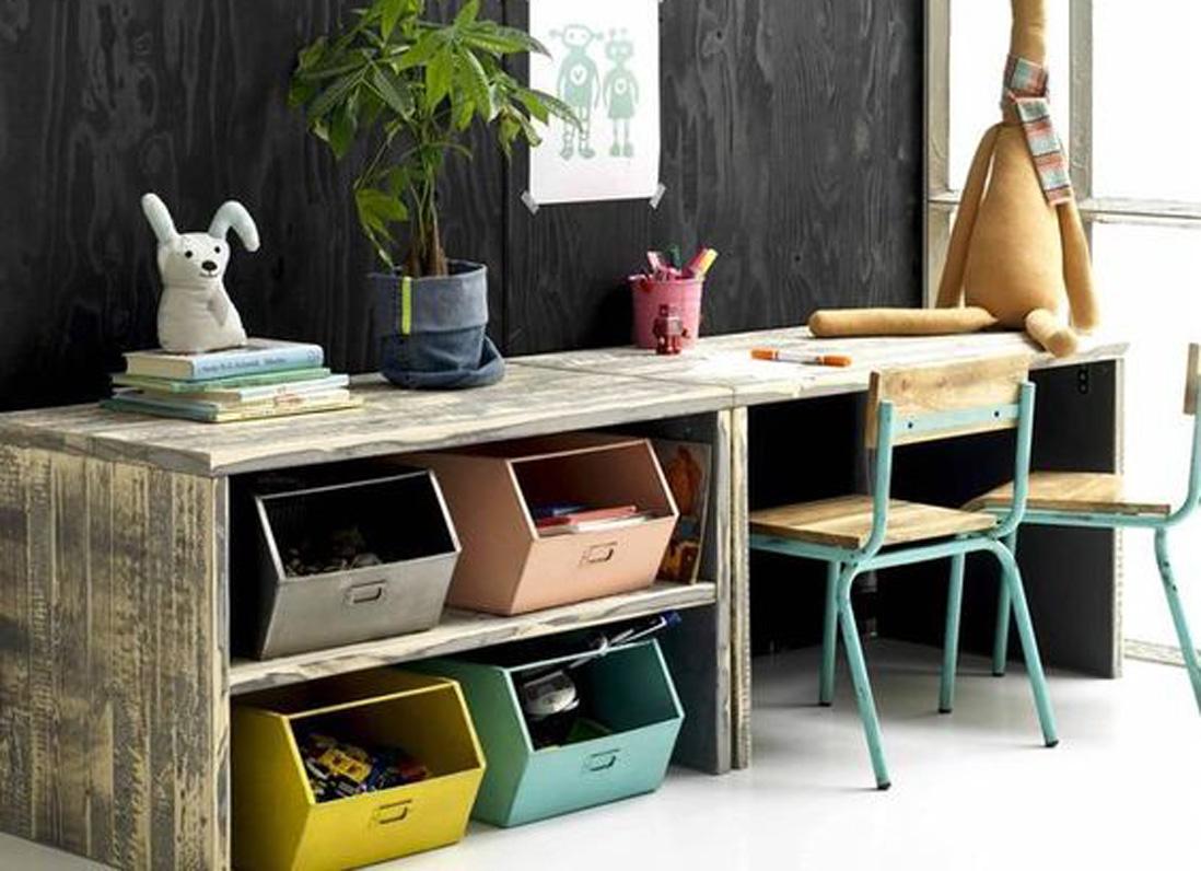 15 id es d co pour ranger les affaires scolaires des enfants elle d coration. Black Bedroom Furniture Sets. Home Design Ideas