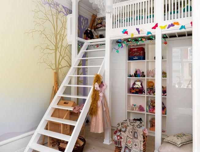 10 chambres d 39 enfant sobres et pur es elle d coration for Chambre mezzanine enfant