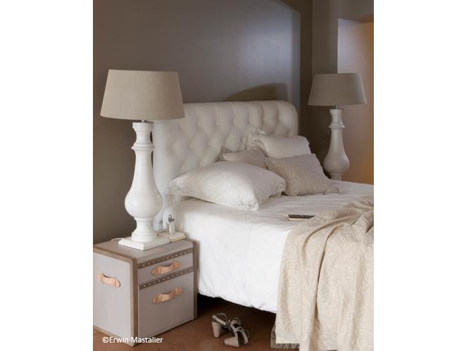 Chambre romantique elle d coration - Tete de lit chic ...