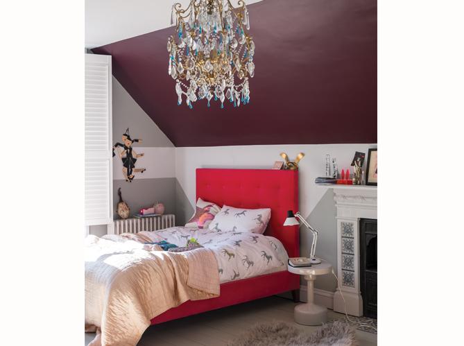 Chambre on mise sur des murs color s elle d coration - Chambre couleur bordeaux ...