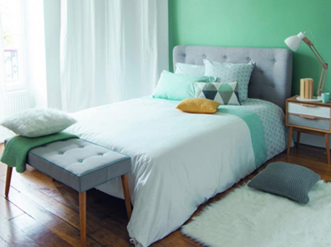 Chambre on mise sur des murs color s elle d coration - Mur de couleur dans une chambre ...