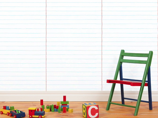 Vive la d coration colorier par les enfants elle d coration - Papier peint a colorier ...