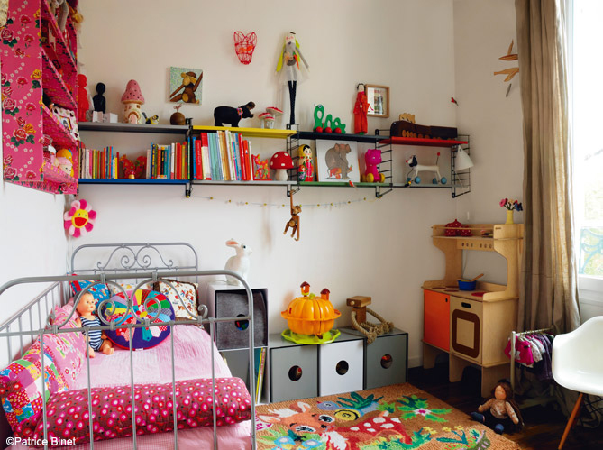 les 40 plus belles chambres de petites filles elle d coration. Black Bedroom Furniture Sets. Home Design Ideas