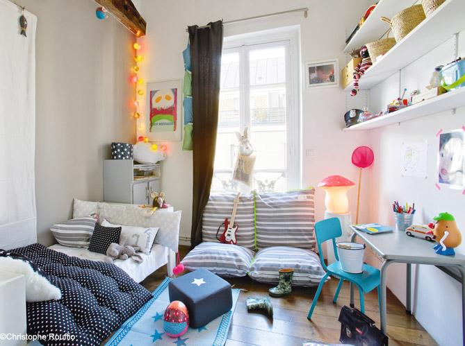 Les 40 plus belles chambres de petites filles elle - Amenager une chambre de 9m2 ...