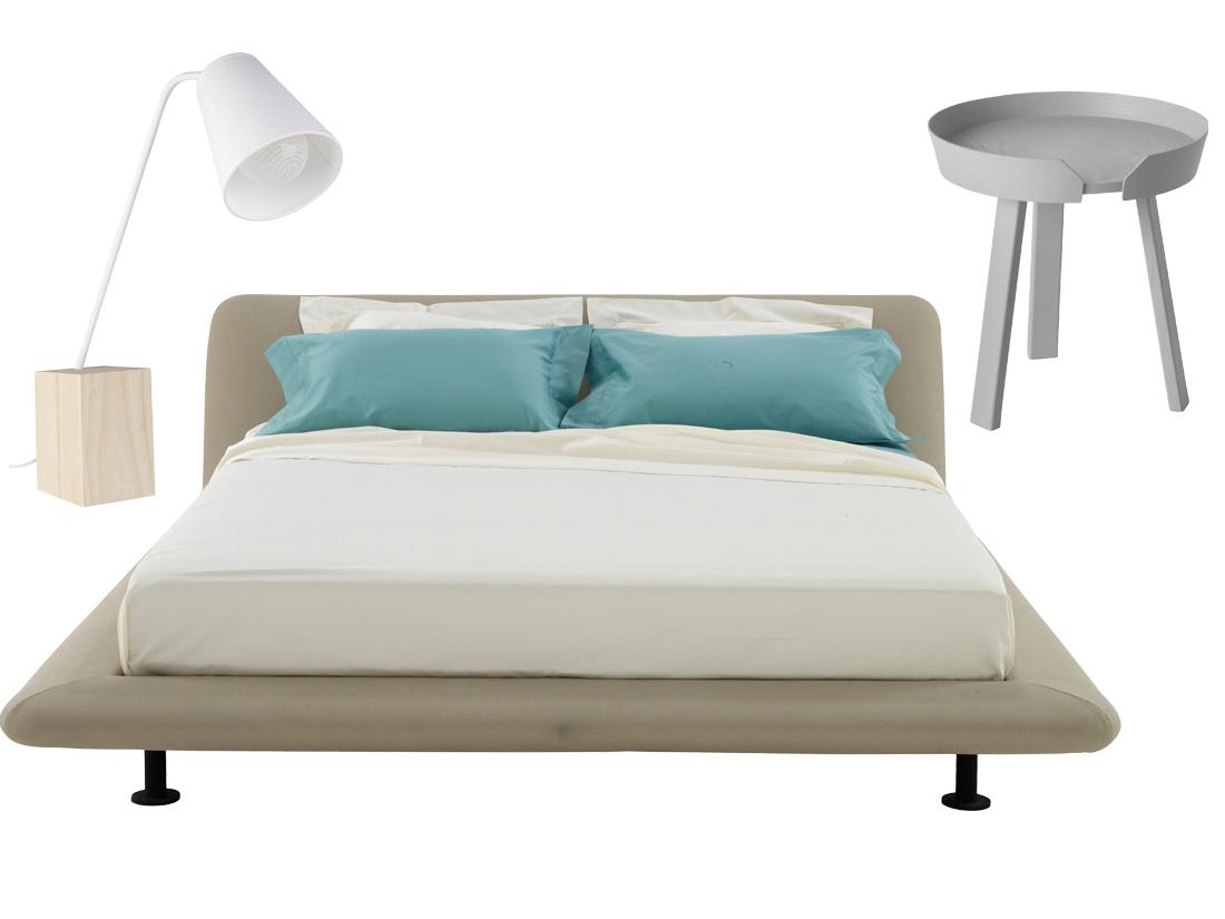 Chambre Bleu Acier : Lit chevet lampe le bon mix pour une chambre idéale
