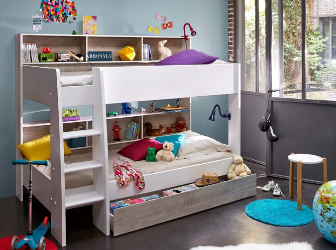80 lits mezzanine pour gagner de la place elle d coration. Black Bedroom Furniture Sets. Home Design Ideas