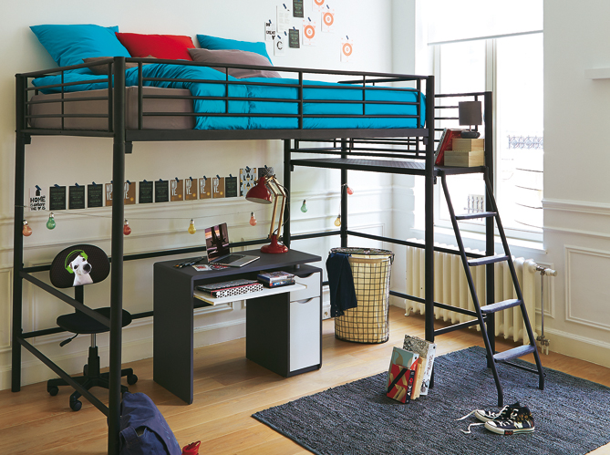 mezzanine chambre ikea. Black Bedroom Furniture Sets. Home Design Ideas
