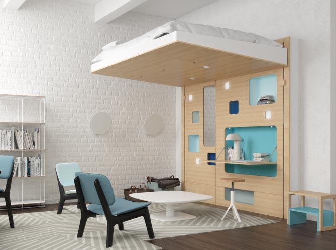 80 lits mezzanine pour gagner de la place elle d coration - Lit mezzanine pour studio ...