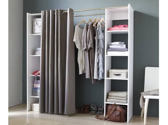 placard chambre pas cher dco chambre armoire ou dressing vous de choisir dressing chambre avec - Placard Avec Rideaux