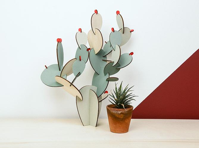 L 39 objet d co du jour le cactus papier tigre elle for Deco objet salon