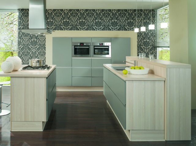25 astuces pour apporter une touche de couleur votre cuisine elle d coration - Tapisserie pour cuisine ...